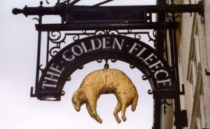 The Golden Fleece Outdoor Pub Sign